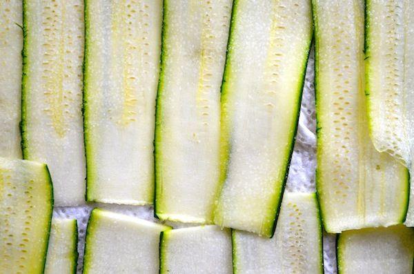 zucchini lasagna - make zucchini ribbons by using a veggie peeler