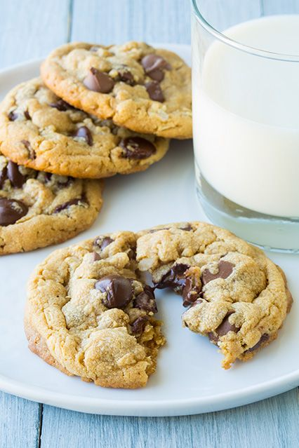 browned butter peanut butter oatmeal chocolate chip cookies | Cooking ...