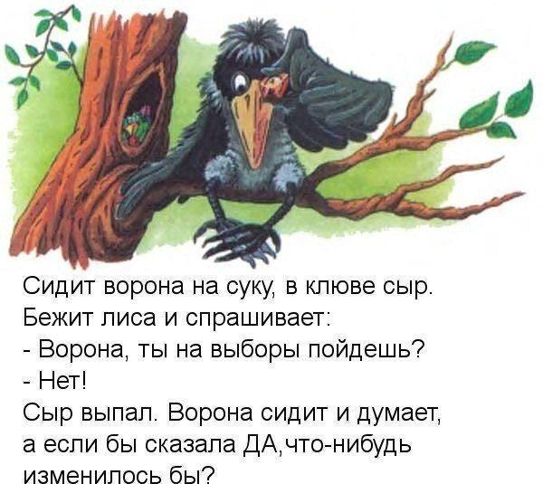Анекдот Про Ворону На Свалке