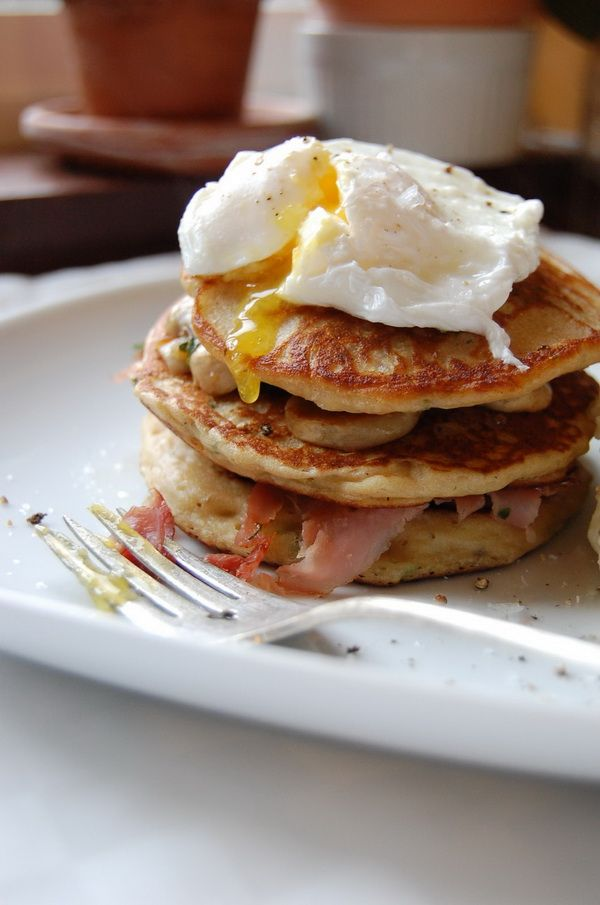 Bacon and Corn Griddle Cakes of Pancakes | Flapjack stack. | Pinterest