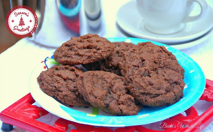 Double Chocolate Espresso Cookies | Get In My Belly! | Pinterest