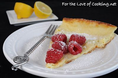 German Pancake with Lemon and Raspberries. Sounds light and divine ...