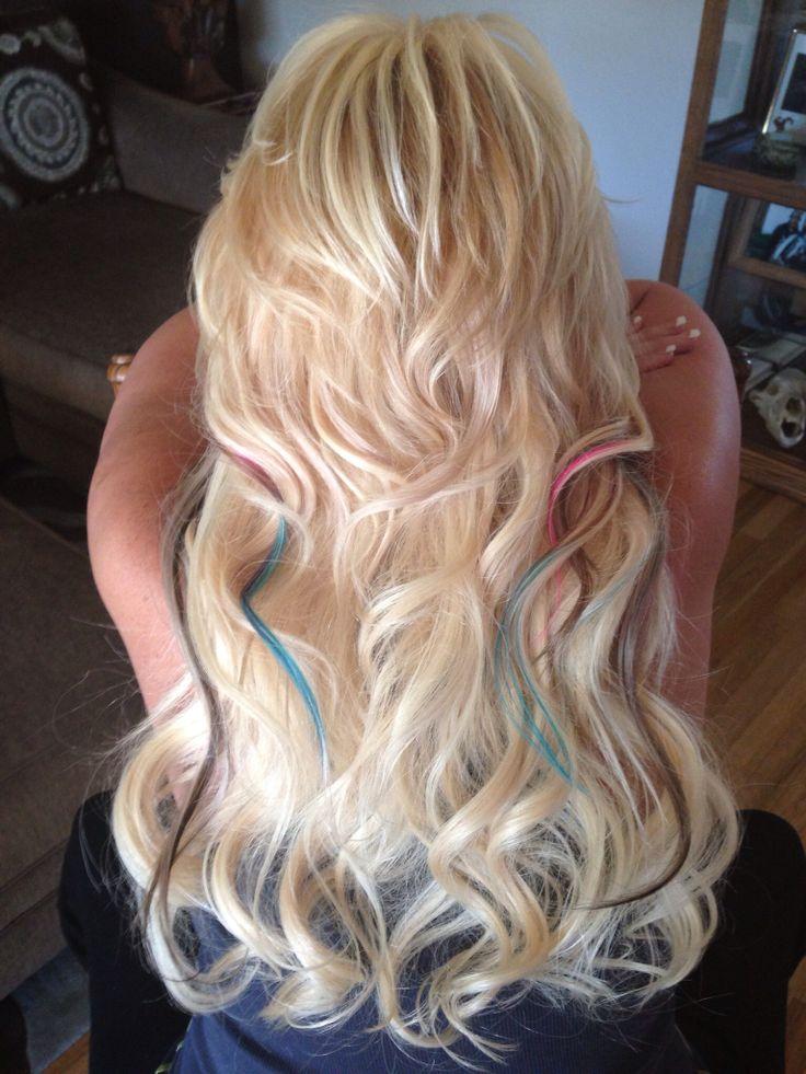 Blonde hair with peekaboos