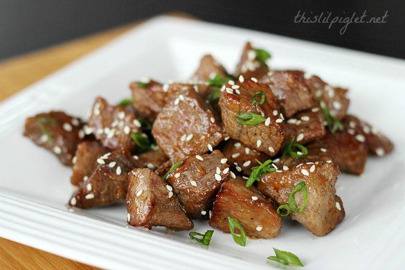 Teriyaki Steak Bites #TKLucky7 | Recipe