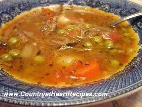 Veg beef soup in dutch oven. | Food | Pinterest
