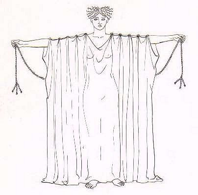 Греческий костюм своими руками из простыни 44