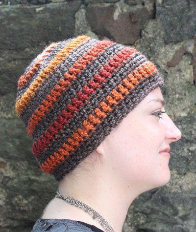 striped beanie crochet ideas Pinterest