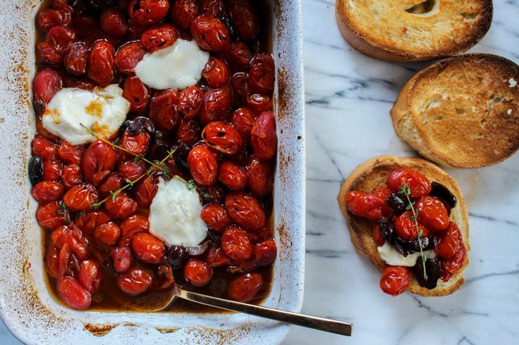 Roasted Tomatoes & Kalamata Olives with Thyme - Local Haven