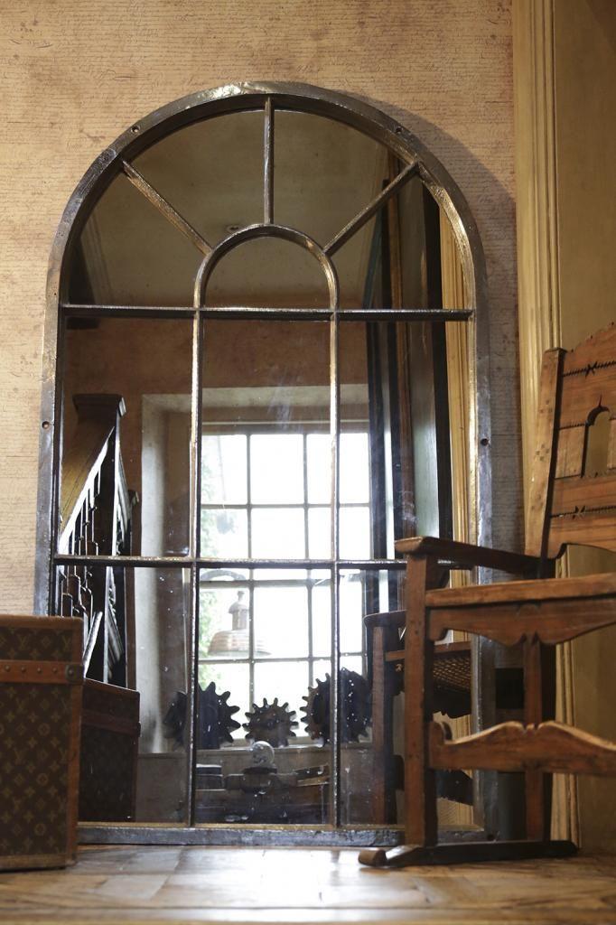 Cats iron window frame with mirror interior ideas for Window mirror ideas