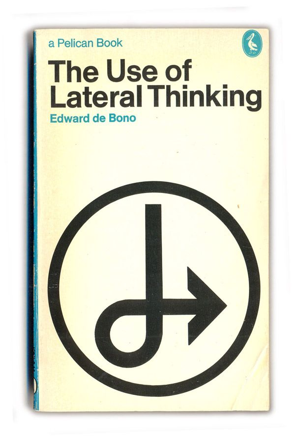 The Use of Lateral Thinking, by Edward de Bono. Vertical thinking is figuring out how to dig a hole more efficiently. Lateral thinking is figuring out where to dig the hole in the first place.
