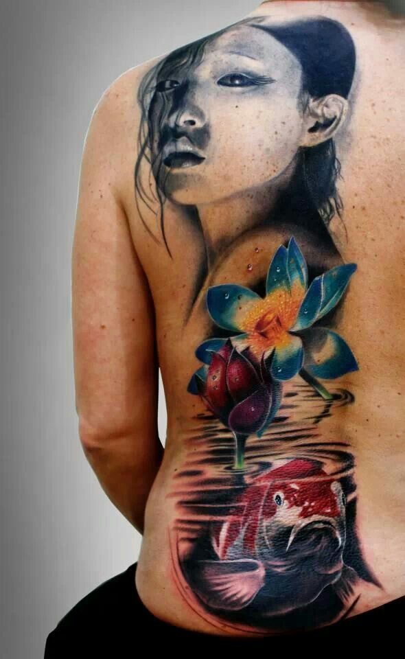 Water lily coy tattoo tattoos pinterest