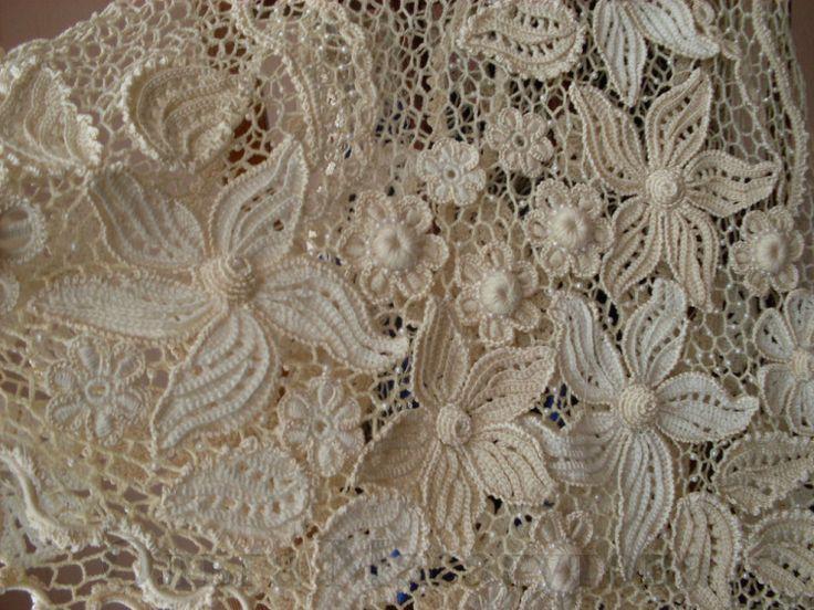 Irish crochet top, pattern detail Crochet- Irish Pinterest