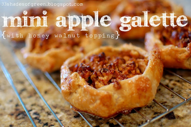 ... Green: Tasty Tuesdays: Mini Apple Galettes with Honey Walnut Topping
