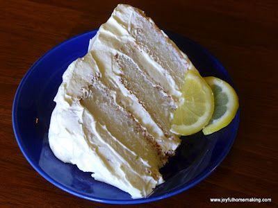Lemon Icebox Angel Food Cake