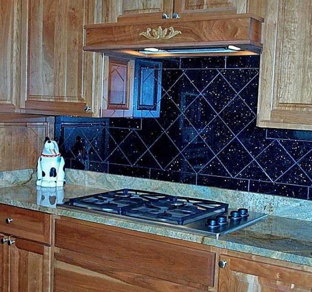 black galaxy granite backsplash tiles backsplash pinterest