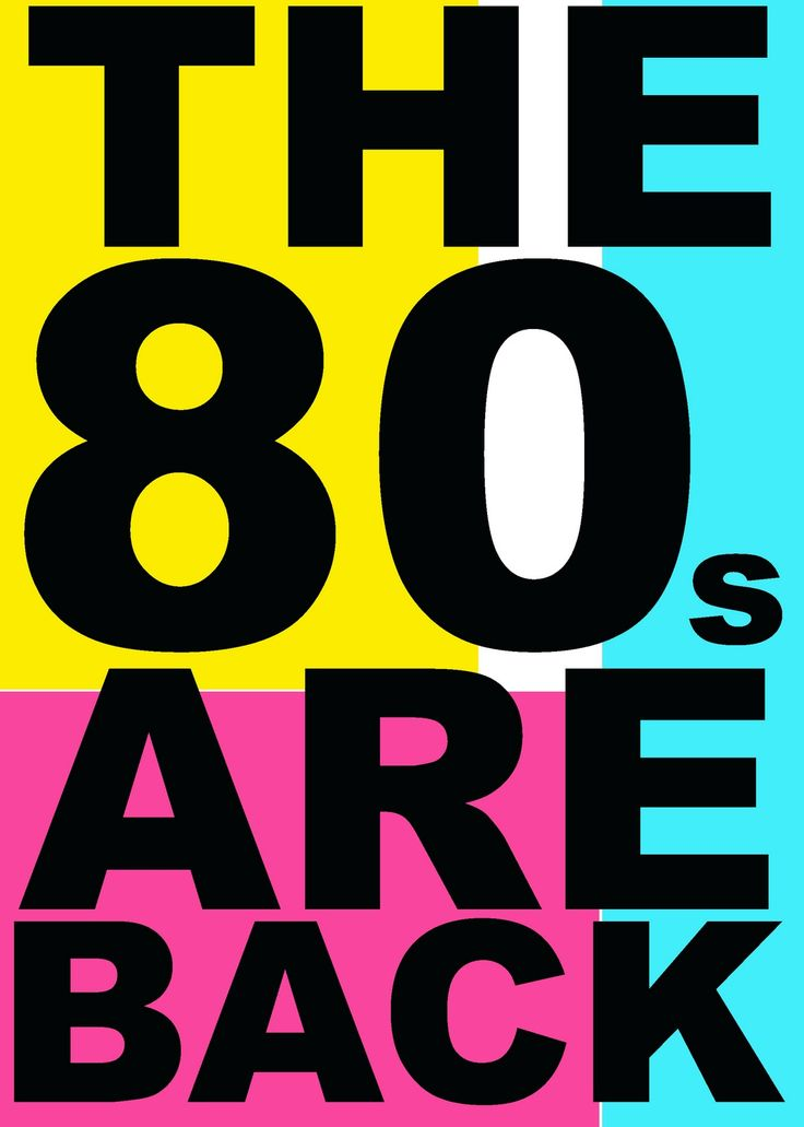 The 80s are back!