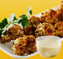 Parmesan Crusted Chicken Bites w/Honey Mustard Dipping Sauce 6 T ...