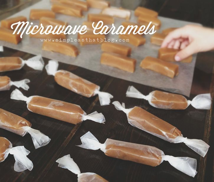 simple as that: Easy Microwave Caramels