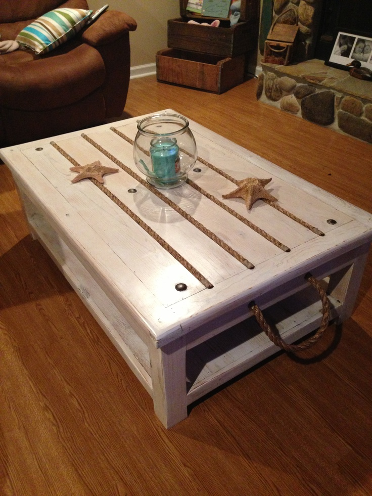 Beach Theme Coffee Table Decorating Ideas For Charleston