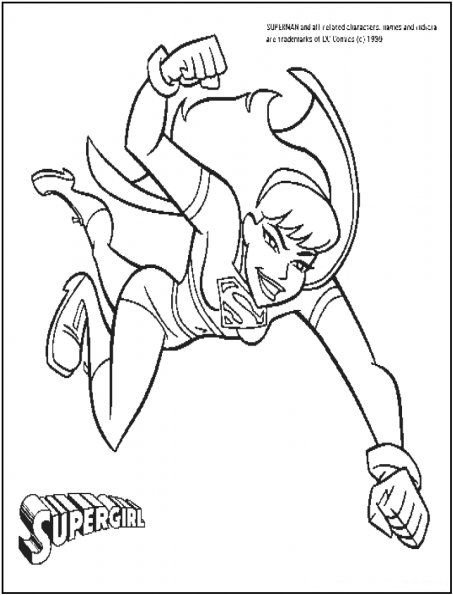 supergirl coloring pages printables - photo#14
