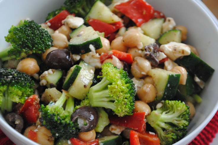 Greek Style Chickpea Salad | Lenten meals | Pinterest