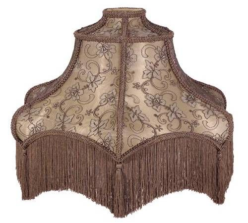 Victorian floor lamp shade with fringe antique lamps for Antique floor lamp with fringed shade