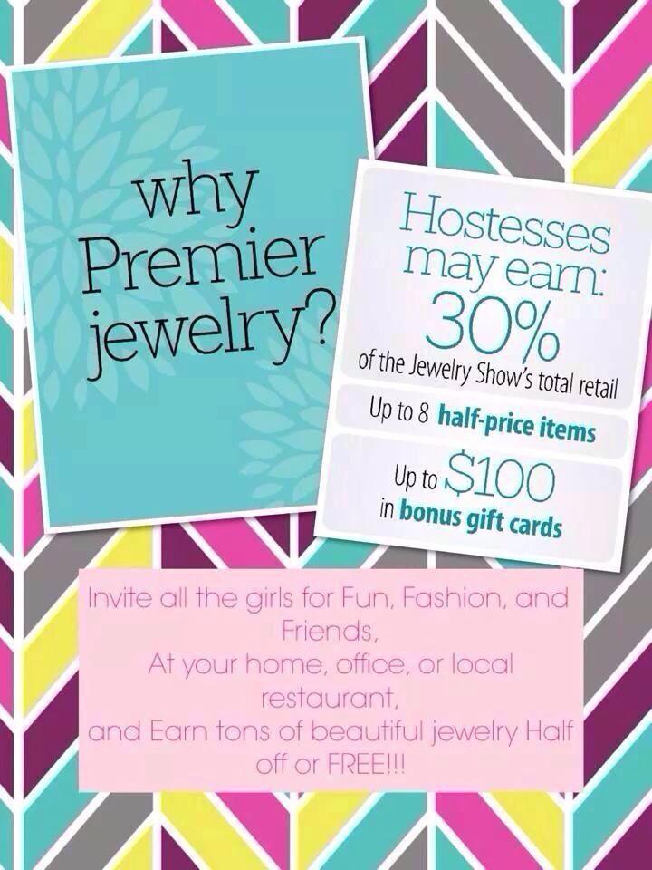 Hostess plan premier designs jewelry pinterest for Premier designs hostess plan
