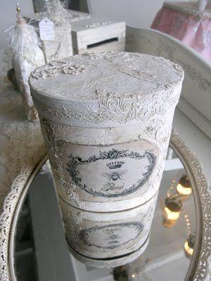 lace vintage box