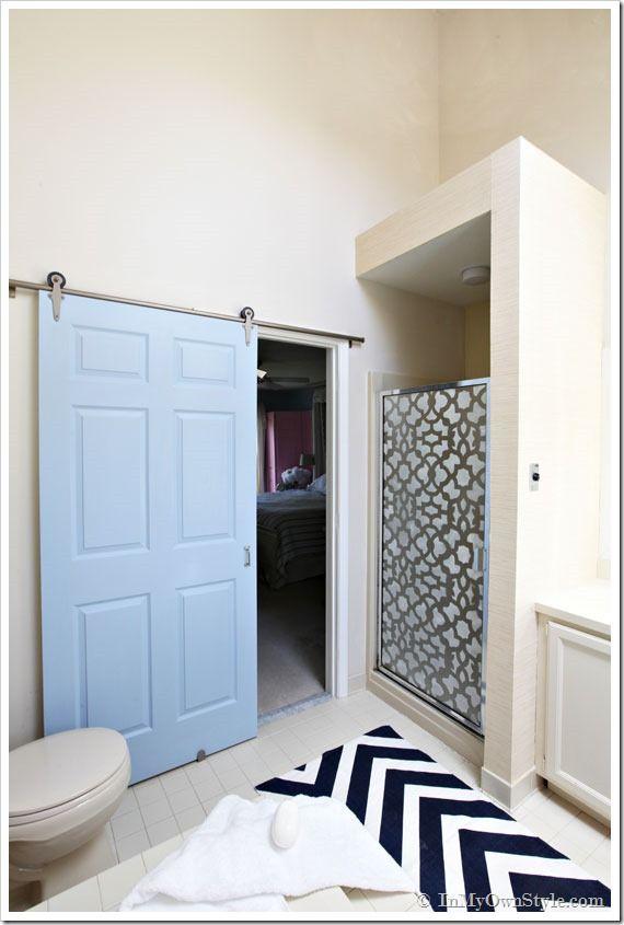 rolling door in bathroom using a rolling door designs hardware kit