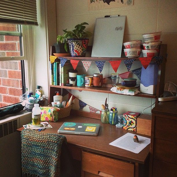 Decorating Ideas > Pin By Mithila On #DUNZO  Pinterest ~ 130713_Dorm Room Ideas Desk