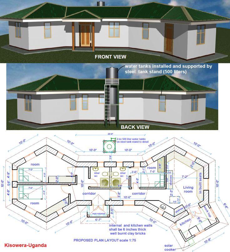 Earthbag construction in uganda earthbag homes pinterest for Earthbag house plans free