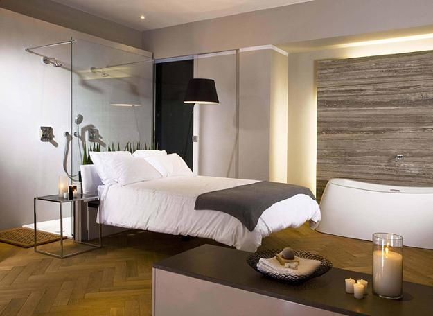 Modern Bedroom And Bathroom Designs Open Layout Interior Design Ideas
