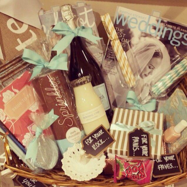 Make Your Own Wedding Gift Basket : amazing engagement gift basket! Gift ideas Pinterest