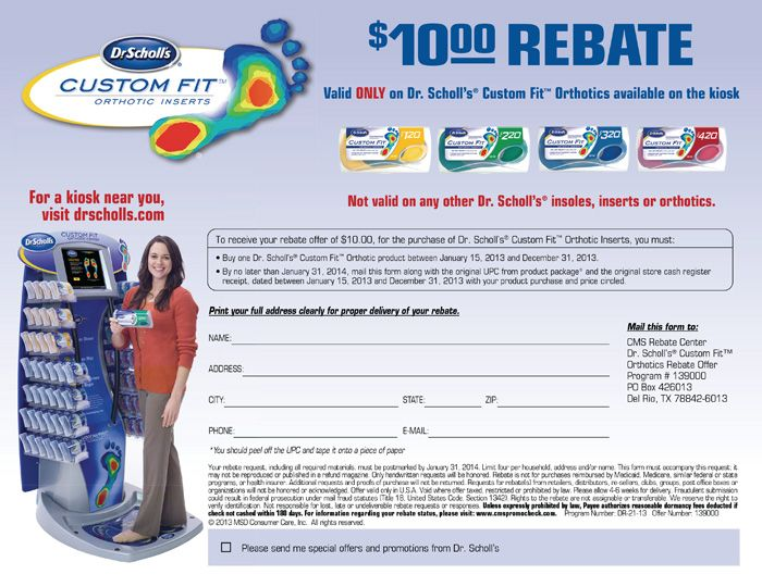 Dr scholls orthotic inserts coupons