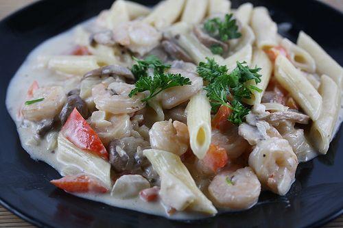 Peppered Shrimp Alfredo Recipe | Let's Eat | Pinterest