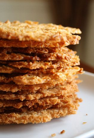 Coconut Tuiles | I'd Eat That... | Pinterest