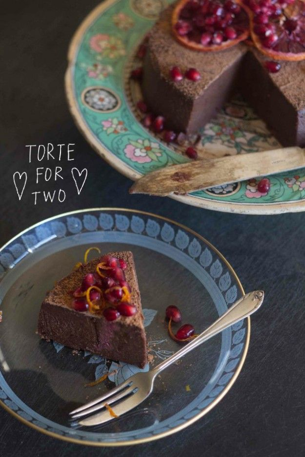 Raw Chocolate Torte with Pomegranate and Blood Orange | Perfect for ...