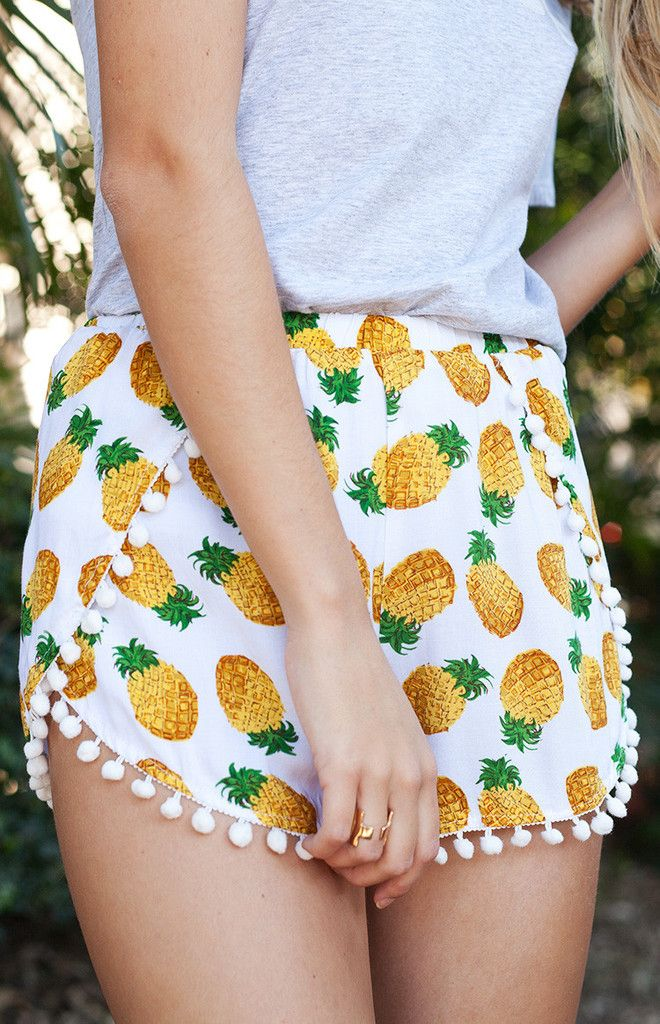Pineapple Punch Shorts // Beginning Boutique
