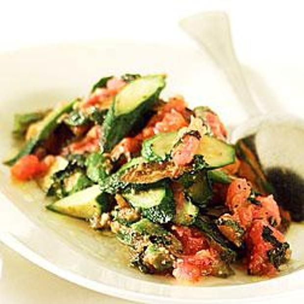 Zucchini With Basil And Tomatoes | YUMMY! VEGETABLES | Pinterest