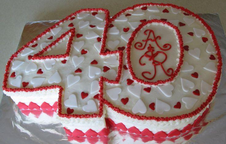 40th wedding anniversary cake anniversary cakes pinterest