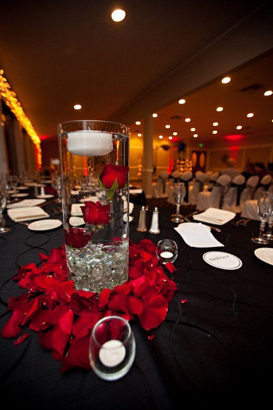 Underwater roses centerpiece lincoln prom pinterest