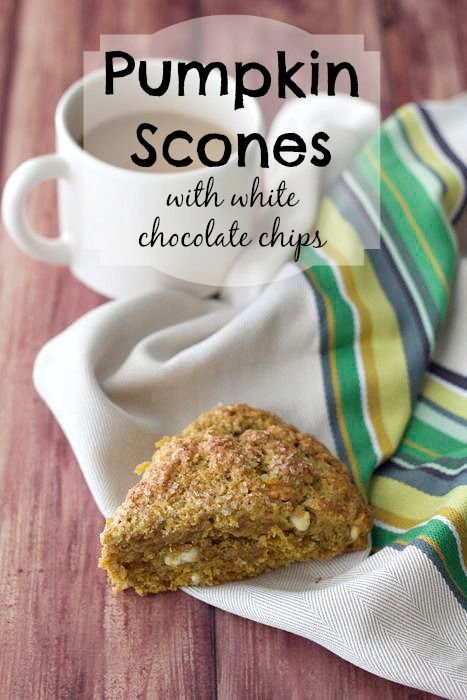 Pumpkin Scones with White Chocolate Chips | Recipe