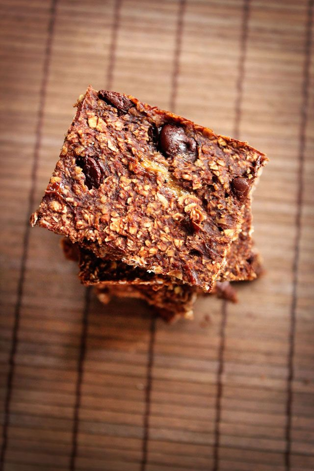Vegan Double Chocolate Oat Bars | Food/Desserts - Healthy (or kind of ...