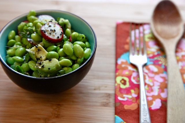 Avocado and Edamame Salad | for. the kids tummys. | Pinterest