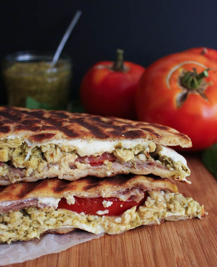 Cheesy Pesto Chicken Panini with Prosciutto and Tomatoes. The most ...
