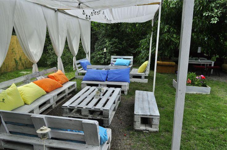 Salon de jardin bois palette pinterest - Salon de jardin en palettes ...