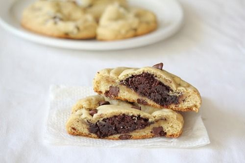chocolate center chocolate chip cookie- I had a cookie like this at ...