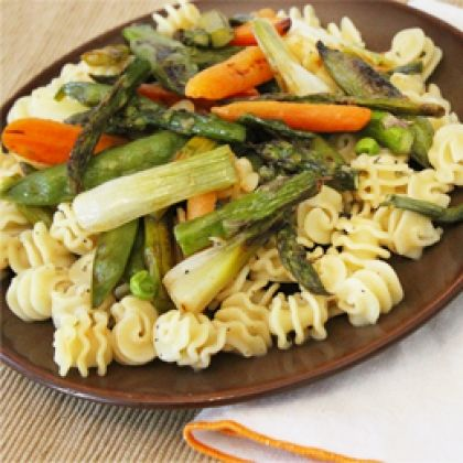Pasta with Roasted Spring Vegetables | Recipe