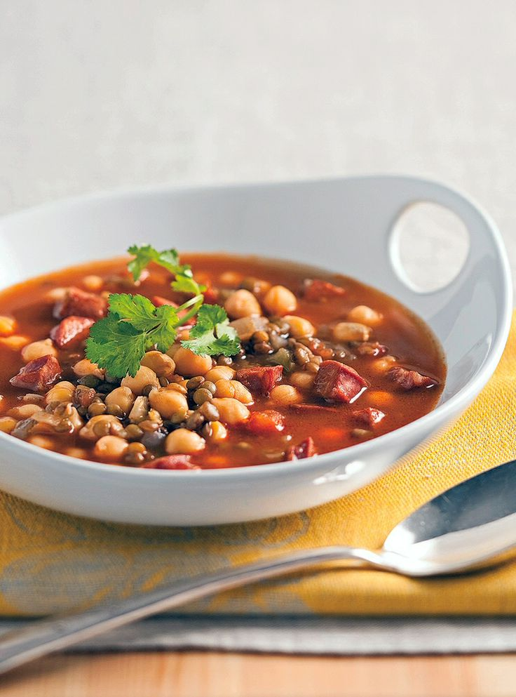 Lentil, Chickpea And Chorizo Soup | Cooking Yummy yummy | Pinterest