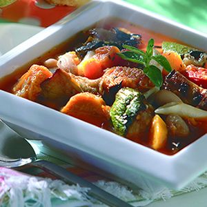 Roasted Vegetable Minestrone | Full Belly | Pinterest